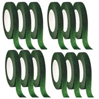 12 Pcs Floral Tape Florist Stem Wrap Green Tape for Bouquet Flowers and Cr W1X8