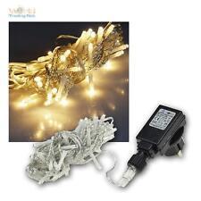 LED Lichterkette für Außen & Innen 40 LEDs warmweiß 230V IP44, Außenlichterkette