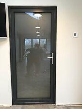 Aluminium door cream,black,grey,white