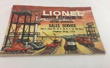 Vintage Lionel Trains 1958 Catalog Original Madison Hardware New York