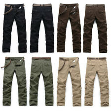 Mens Solid Army Trousers Pants Combat Military Cargo Waist Work Casual Summer