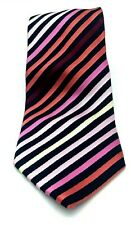 Mens ties. London Road Pink Striped Tie