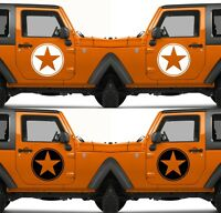 Set of 2 America US U.S. United States Army Star Vinyl Decal Sticker V12
