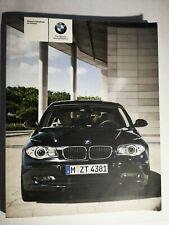 BMW 1 SERIES HANDBOOK / OWNERS MANUAL 2008 2011