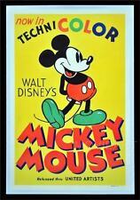 MICKEY MOUSE DISNEY VINTAGE MOVIE POSTER FILM A4 A3 ART PRINT CINEMA #2