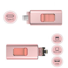 512GB Flash Drive USB Memory Stroage Type-C Pendrive For iPhone Android PC hot