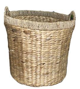 Seagrass Handwoven Round Basket  16 X 16 X 16
