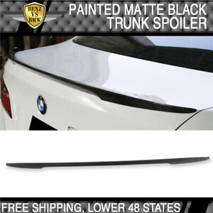 11-16 BMW F10 5 Series Trunk Spoiler Matte Black Painted ABS