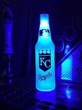 Mlb Kansas City Royals Baseball 12 oz Beer Bottle Light Led Neon Bar Pub Mens