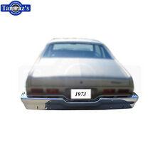 1973 73 Standard Nova Triple Chrome Plated REAR Bumper NO Impact Strip Holes