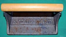 CAST IRON BACON PRESS With WOODEN HANDLE Vintage Taylor & Ng Breakfast Pig
