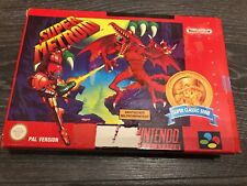 Super Metroid SNES Super Nintendo Game Original LEER READ PAL NOE