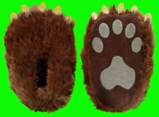 Childrens Paw Slippers / Kids Grizzly Bear Paw With Soft Fabric Claws