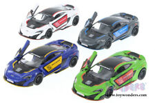 SET : 4 McLaren 675LT with Prints, (Gray/Blue/White/GREEN) Diecast Car Models