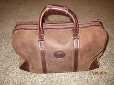 "ROOTS ""Air"" Brown Leather 18"" Duffle Bag - NO SHOULDER STRAP -Scuffs & Scratches"