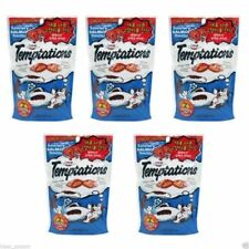 Whiskas Temptations Treats for Cats 5 Pack of Savoury Salmon 425g 추