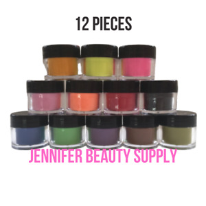 12 COLORS ACRYLIC POWDER SET FOR NAIL ART 3D DIY TIPS DECORATION