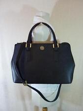 Tory Burch Black Saffiano Leather Robinson Mini Double-Zip/EW Tote - $475