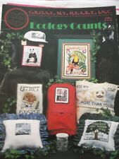 Ecology Counts 1990 Cross My Heart  20 pg Cross Stitch Pattern booklet
