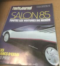 L'Auto- Journal Salon 1985 Toutes Les Voitures Du Monde