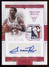 SCOTTIE PIPPEN 2015-16 PANINI National Treasures NBA Logoman Patch Auto /5 Prime