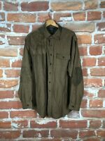 Polo Ralph Lauren XL Leather RRL Southwestern Flannel Hunting Work Shirt Jacket