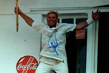 Shane WARNE Signed Autograph 12x8 Photo Ashes CRICKET Australian AFTAL COA