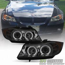 Smoke 2006 2007 2008 BMW E90 3-Series 4Dr Sedan LED Eye Lid Projector Headlights