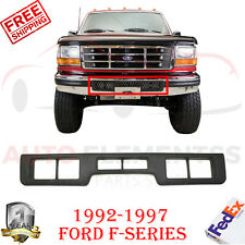Front Bumper Center Molding Black W/ Air Hole For 1992-1997 Ford F-Series
