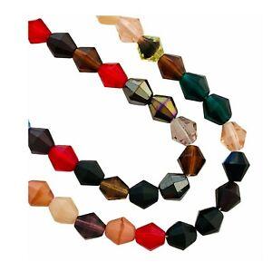 80 Preciosa Czech Glass Fire Polished 8mm Double Cone Bicone Color Bulk Beads