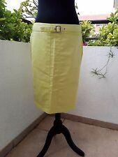 Falda Purificación Garcia recta, talla 40, amarilla. A ESTRENAR