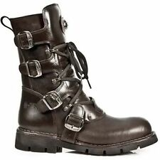 Buckle Combat Boots Synthetic Leather Shoes for Men