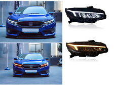 for new 2016-2018Honda Civic Headlights  LED High &low  LED DRL+SEQUENTIAL TURN