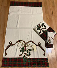 2 Lenox Christmas Bath Towels And One Hand Towel New