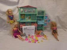 Barbie Sweet Sounds Pet Grooming Shop Store Animals + 1966 Barbie + Accessories
