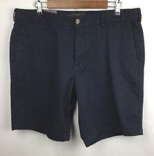 Black Brown 1826 NWT Mens Chino Shorts Size 36 Navy Flat Front Casual Golf New