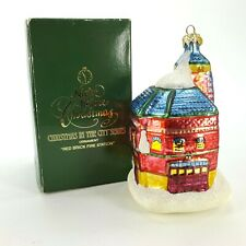 """Dept 56 Night Before Christmas Red Brick Fire Station 5.5"""" Glass Ornament Poland"""