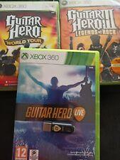 Xbox 360 Guitar Hero Pack Receptor Y Tres Juegos adaptador
