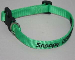 Hundehalsband mit Telefonnummer bestickt, Längen und Farbauswahl, 2cm breit