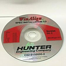 Version 6.2 Hunter Engineering WinAlign Alignment Installation CD Software P93
