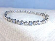 Tanzanite and White Topaz Mimosa Bracelet in Sterling Silver