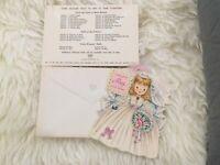 Vintage Hallmark Little Women Meg Cards 1949 New, EnvelopesFeathers Series Card