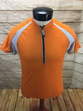 Canari Biking Cyclin Jersey Shirt Orange Men s Small 1 2 Zip Short Sleeve b92bef1b0