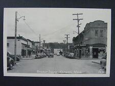 Edmonds Washington WA Coke Signs Cafe Theater Real Photo Postcard RPPC c1950