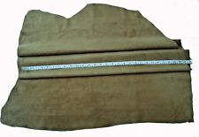 SOFT KHAKI PIG SUEDE LEATHER- GARMENTS, SEWING, BAGS, LARP #2578