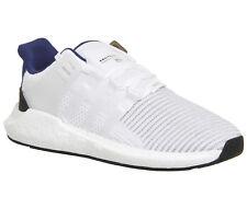 Adidas EQT Support 93/17 WHITE/BLACK/BLUE Trainers UK 7 EU 40.7 LN086 UU 01