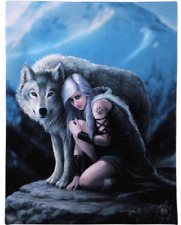 Protector Anne Stokes Canvas Wall Plaque 19cm X 25cm