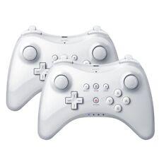 2X Wireless Weiß Joystick Gamepads Pro Controller für Nintendo Wii U mit Kabels