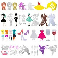 Lady Man Metal Cutting Die Embossing Stencil Scrapbooking Stamp Photo Card Decor