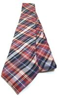 BEN SHERMAN Necktie Tie 100% Silk Red, Blue, White, Yellow Plaids & Checks